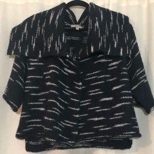 Gap wool blend short sleeve shawl cardigan